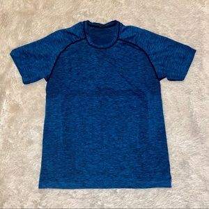 Men's Blue Lululemon Gym Shirt Size Medium